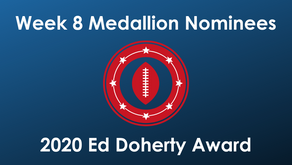 14 High School Football Players Earn Week 8 Ed Doherty Award Nomination Medallions