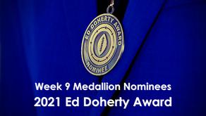 Alaniz, Brown, Craddock, Hammett, Lara, Monday, Warner & Williams Earn Week 9 Nomination Medallions