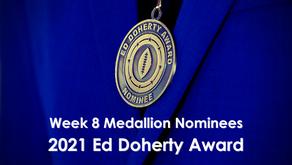 Allen, Bellino, Molander, Stallworth & Sweet Earn Week 8 Ed Doherty Award Nomination Medallions™