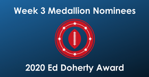 Craddock, Davis, Grant, Lira, Milner and Thurman Earn Week 3 Ed Doherty Award Nomination Medallion
