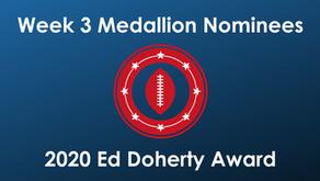 Craddock, Davis, Grant, Lira, Milner and Thurman Earn Week 3 Ed Doherty Award Nomination Medallion