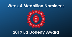 Card, Eastman, Keene, London & Plummer  Earn Week 4 Ed Doherty Award Nomination Medallions