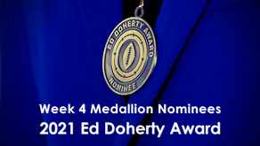 Arviso, Gonzales, Mohammed, Pando & Rivera Earn Week 4 Ed Doherty Award Nomination Medallions