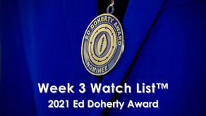 2021 Ed Doherty Award Week 3 Watch List™ Announced Roster features 55 Arizona Prep Football Players