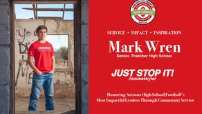 Mark Wren of Thatcher High School named as 2020 Impact Award Recipient