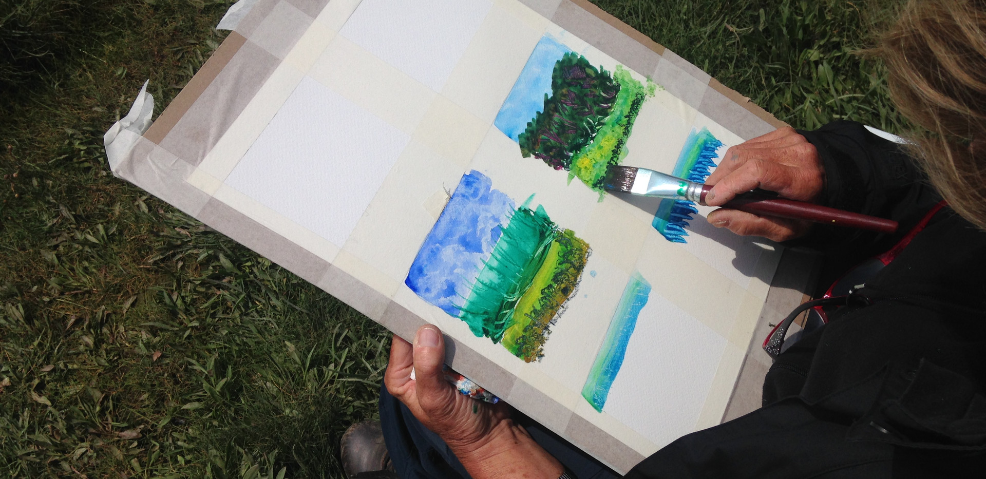 Landscape painting with water colours