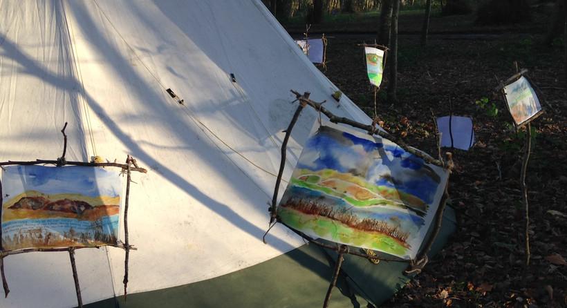 Water colour landscape exhibition