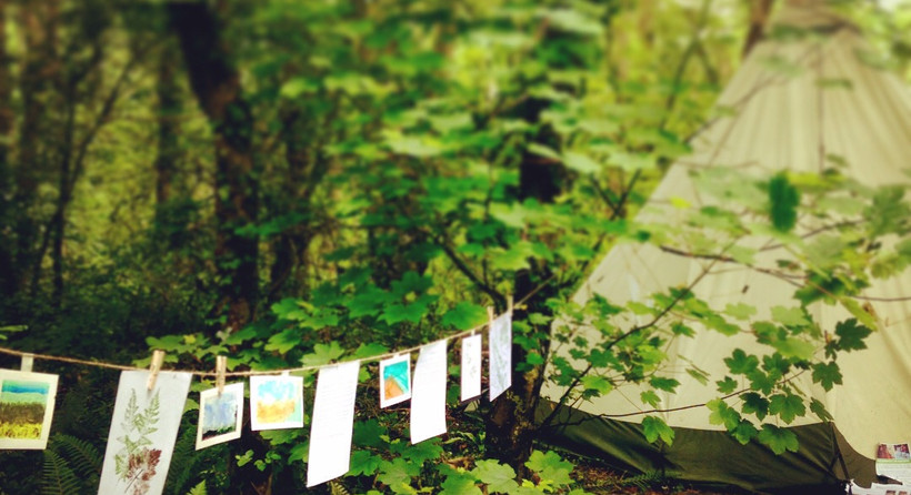 A woodland exhibition of nature art