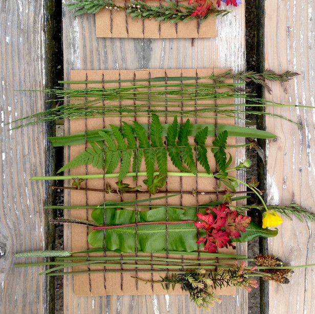 Nature Boxes and Weavings