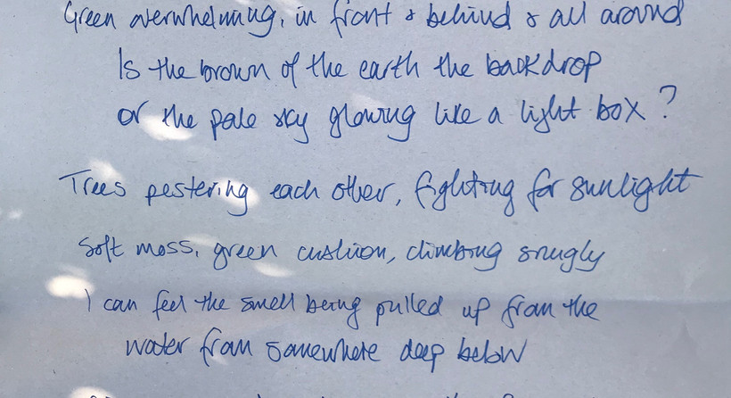 A collaborative poem from a guided walk for the Poetry of Places project