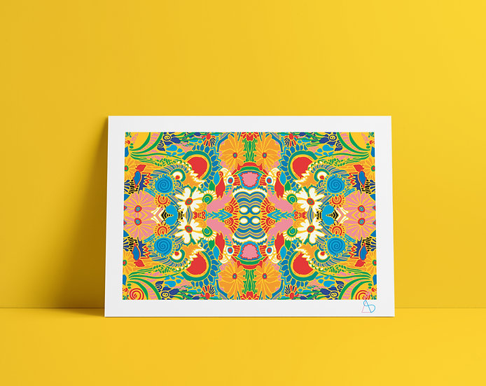 A4 Kaleidoscope Print