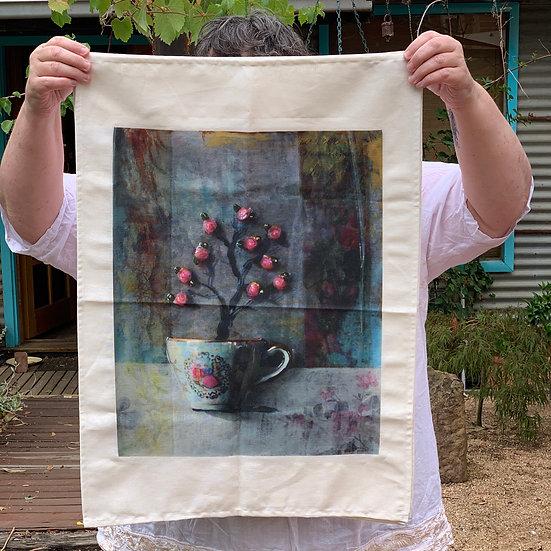 Tea Towel - Tea Rose