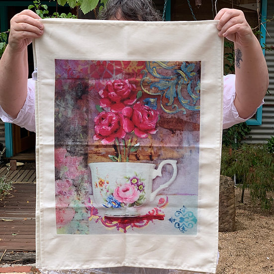 Tea Towel - Roses are Red