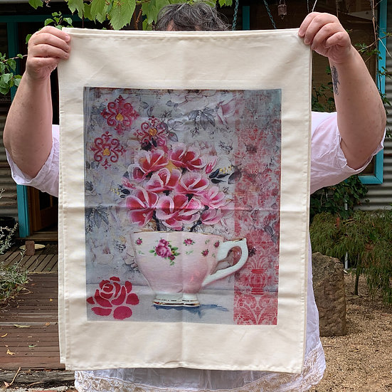 Tea Towel - Pretty in Pink