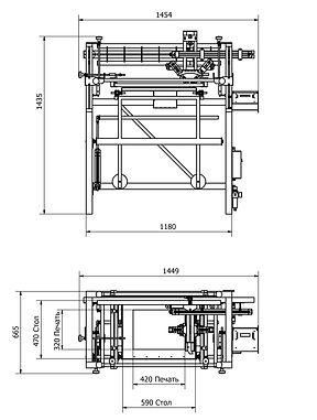 A3 Silkograph Silkomate™ Platelocater™ - плоскопечатный трафаретный станок-полуавтомат (шелкография)