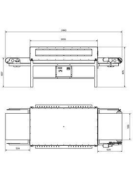 Silkograph Saunapipe™ 600 - тоннельная сушильная печь для трафаретной печати (тоннельная сушка) (шелкография)