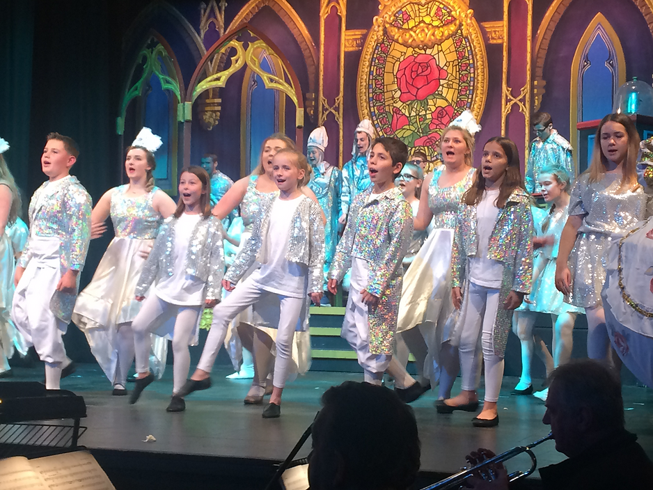 YC Durham Drama Tree kids theatre performing in Youth Connection Beauty and the Beast Disney Musical
