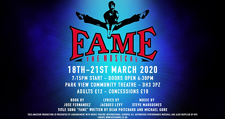 YC Durham Youth Connection Theatre Company Chester-le-Street performing  Fame Musical