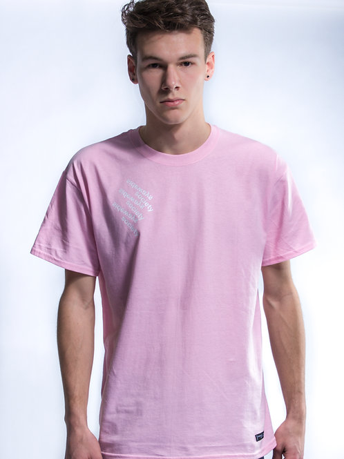 Light Pink Collapsing Mainstream Tee