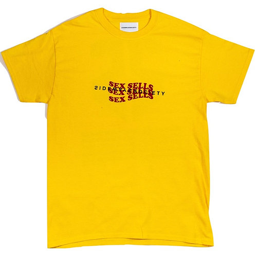 Sex Sells Tee in Yellow