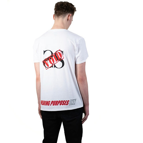 WEARING PURPOSES ONLY WHITE VOID OUT TEE