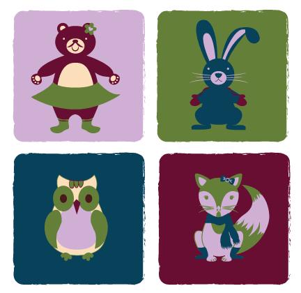 ProductDesign_Print_Animal_OwelFoxBearRa