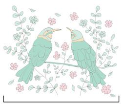 ProductDesign_Print_Animal_BirdsGreen