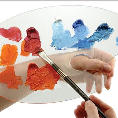 "Transparent Oval Acrylic Palette 9x12"""