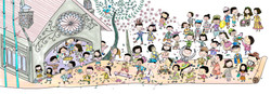 Illustration_Scene_Exterior_People_Churc