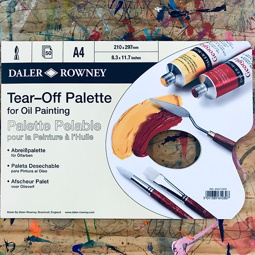Daler Rowney Tear Off Oil Paint Palette A4