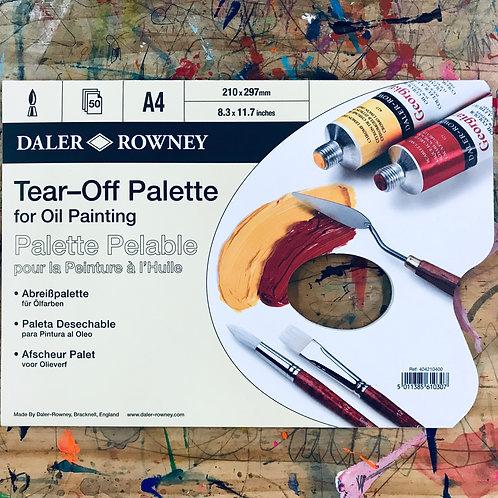 Daler Rowney Tear Off Oil Paint Palette A4