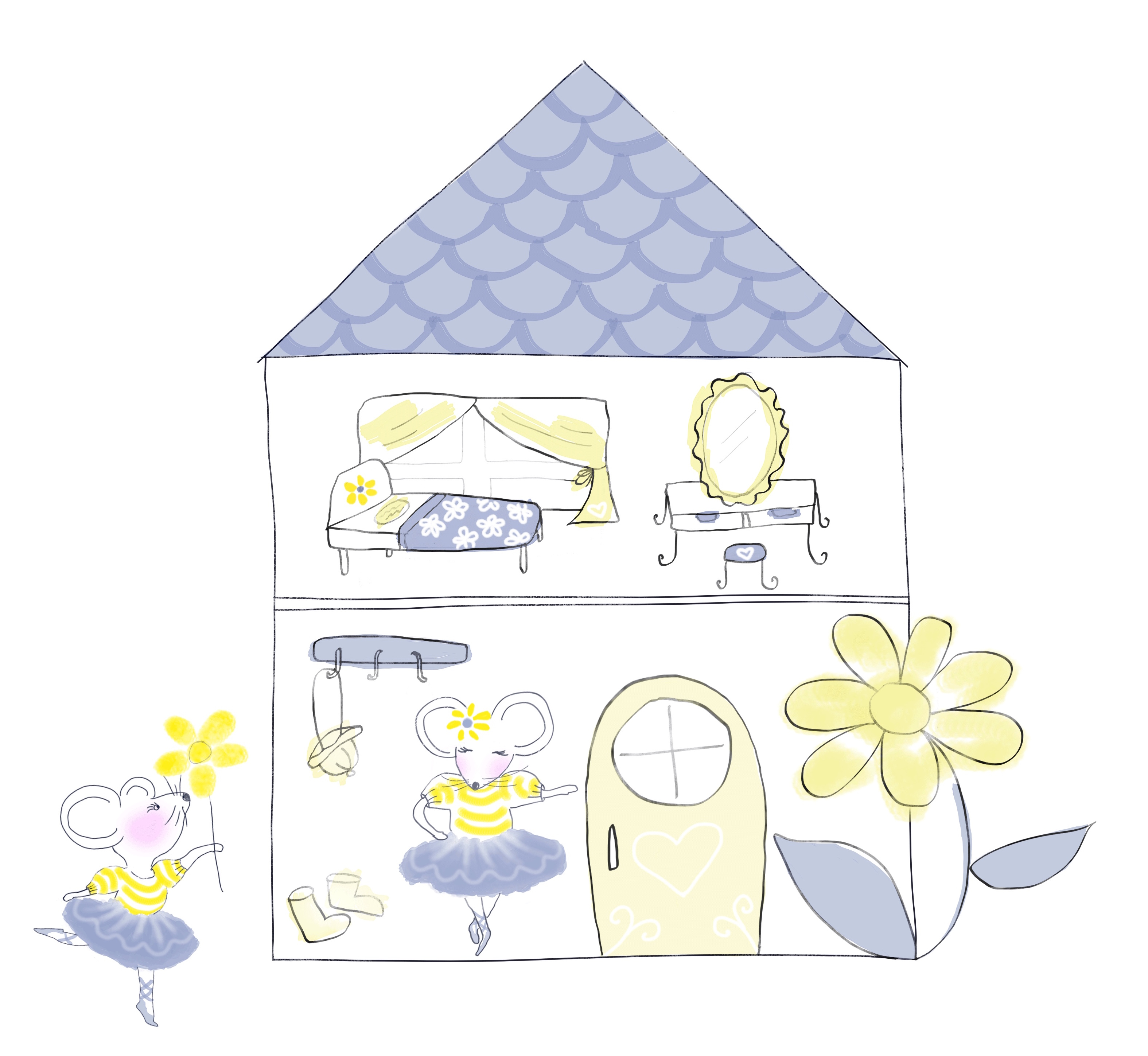 ProductDesign_Print_Animal_Mice_DollHous