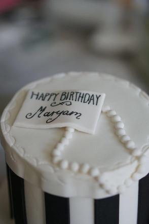 Schwarz Weiß Torte für eine schwarz weiße Party