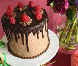 Schoko-Himbeer-Creme Torte