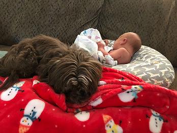 Bruno with baby Olivia.jpeg