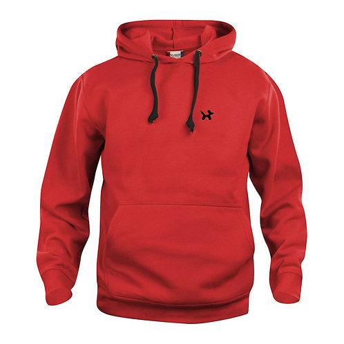 Ballonhond hoodie | Rood-Zwart