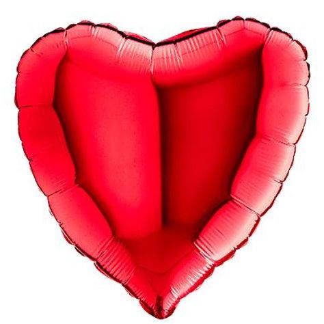 Ballon   Hartje Rood