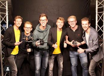 @daankattouw met het camera team en TravelDudes Entertainment na de JubileumShow 2019