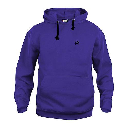 Ballonhond hoodie | Paars-Zwart