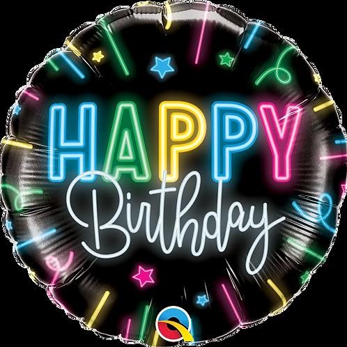 Ballon | Happy Birthday Neon