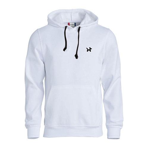 Ballonhond hoodie | Wit-Zwart