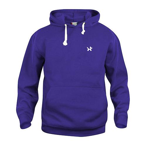 Ballonhond hoodie   Paars-Wit
