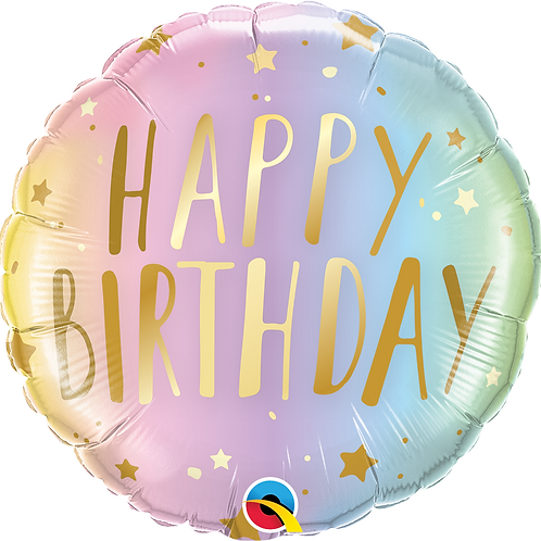 Ballon | Happy Birthday Pastel