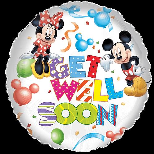 Ballon   Get Well Soon Mickey en Minnie mouse