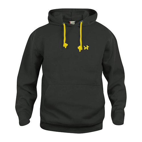 Ballonhond hoodie | Zwart-Geel