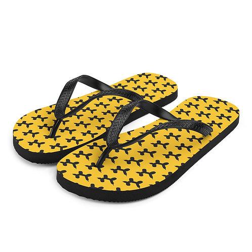 TeenSlippers | Zwart-Geel