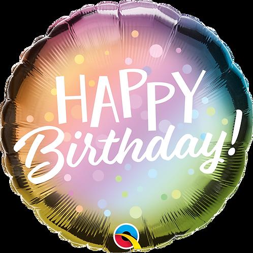 Ballon | Happy Birthday Metallic