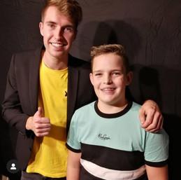 @joas._.lock samen met Bart na de JubileumShow 2019