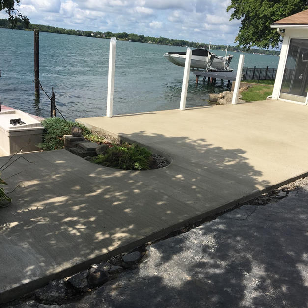 Waterfront Patio and Dock