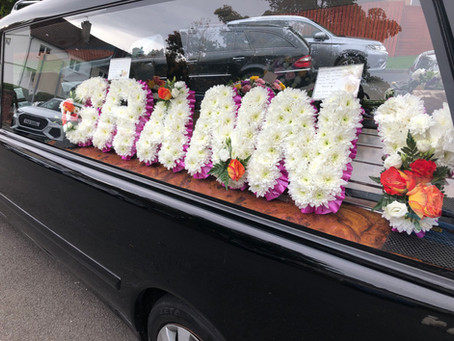 Funeral Letter Floral Tribute.